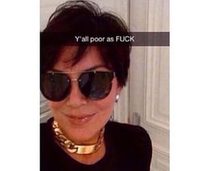 reaction and kris jenner image