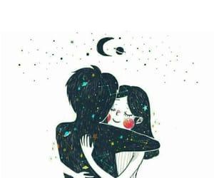 love, art, and moon image
