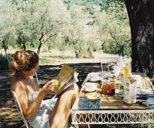 girl, summer, and breakfast image