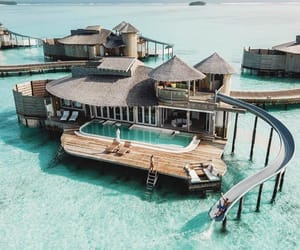 Maldives, ocean, and vacation image