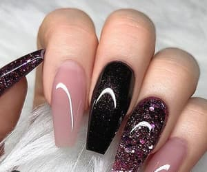 black, girly, and glitter image