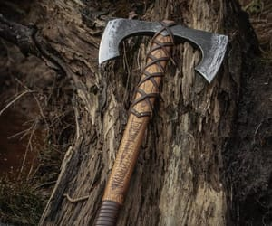viking, double sided, and axe image