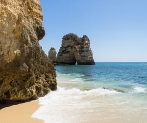 beach, portugal, and travel image