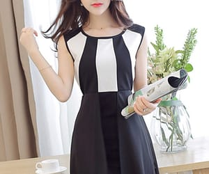 black and white dresses, dresses, and patchwork image
