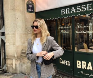 blogger, blonde hair, and chic image