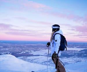 girl, ski, and skier image