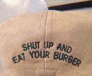aesthetic, tumblr, and burger image