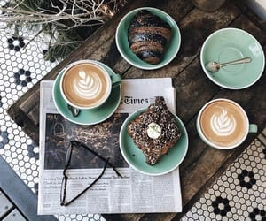 cafe, coffee, and croissants image