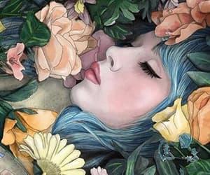 art and girl drawings image