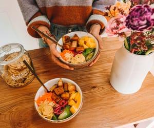 vegan, vegetarian, and tofu bowl image