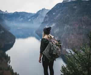 adventure, girl, and mountain image