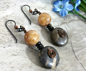 etsy, gypsy earrings, and rustic earrings image