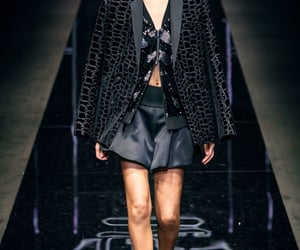 Armani, fashion show, and emporio armani image