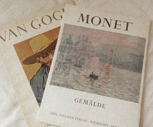 art, monet, and van gogh image