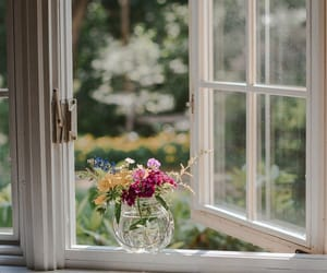cabin in the woods, Country House, and flowers image