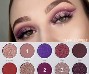 makeup, pink, and cut crease image