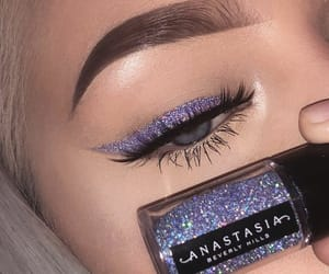 eyeliner, purple glitter, and anastasia beverly hills image