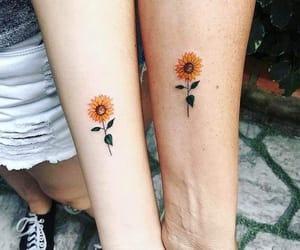 sunflowers and tattoo image