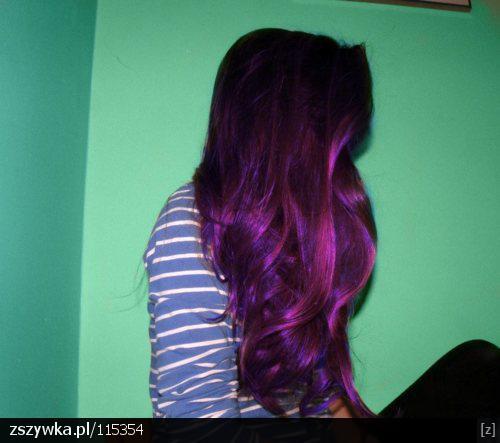 Fioletowe Ombre Hair Na Fryzury Zszywkapl On We Heart It