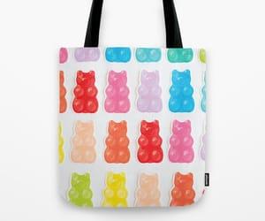 bag, gummy bears, and tote bag image
