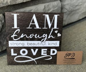 self confidence, inspirational sign, and farmhouse wood sign image