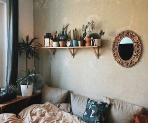 bedroom, cozy, and pillow image