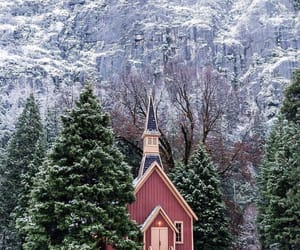 church, pink, and winter image