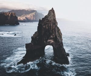 arch, ocean, and waters image