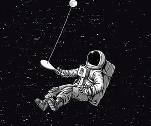 astronaut, space, and gif image