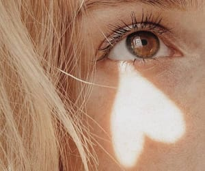 blonde, eyes, and love image