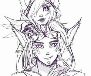 draw, fanart, and lol image
