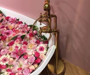 bath, fashion, and flowers image