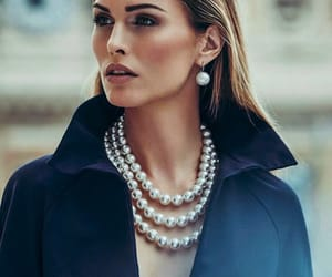 elegant, jewelry, and pearl image
