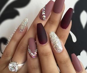 nails, glitter, and beauty image