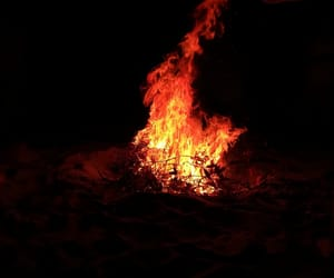 aesthetic, fire, and red image
