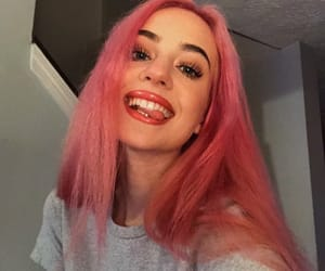 girls, pink hair, and youtube image