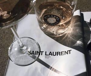 drink, saint laurent, and wine image