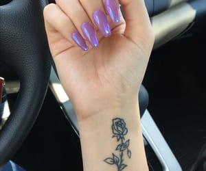 nails, tattoo, and nail art image