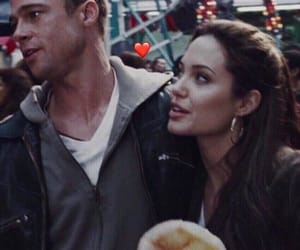 couple, Angelina Jolie, and love image