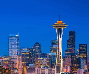 seattle, blue, and city image