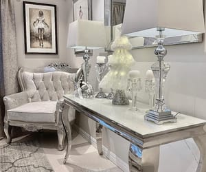 bedroom, silver, and décoration image