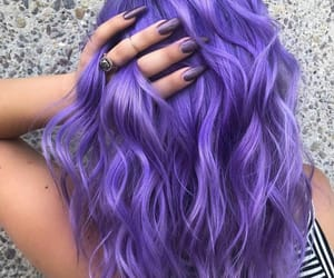 colored hair, hair, and nails image