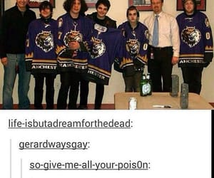 bands, funny, and mikey way image