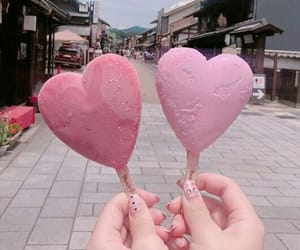 heart, food, and ice cream image