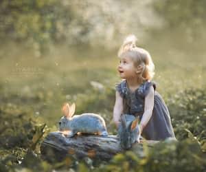 children, rabbit, and أطفال image