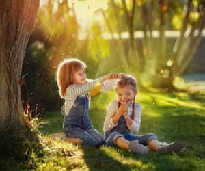 children, اخوات, and girl image