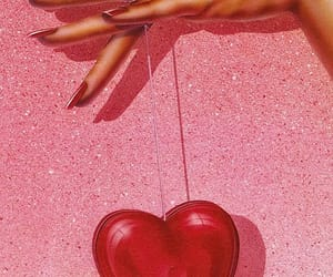 pink, heart, and red image