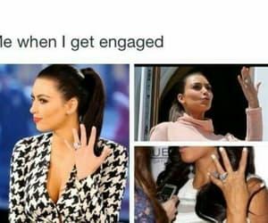 engaged, funny, and kim kardashian image