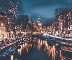 amsterdam, photography, and boats image
