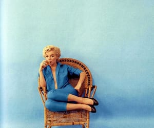 Marilyn Monroe, marilyn, and blue image